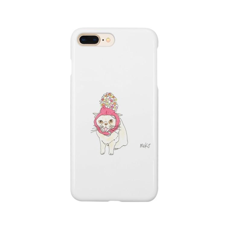 おもち&小町🐈のもちボンボン Smartphone cases