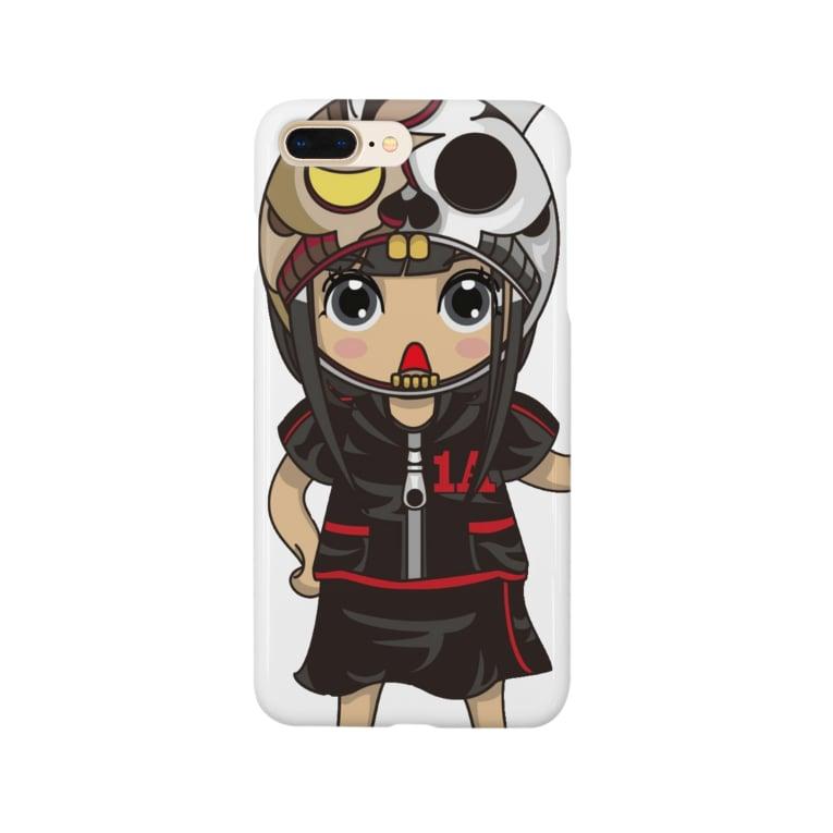 ʚ一ノ瀬 彩 公式 ストアɞのちびキャラ/HORRORTYPE【一ノ瀬彩】 Smartphone cases