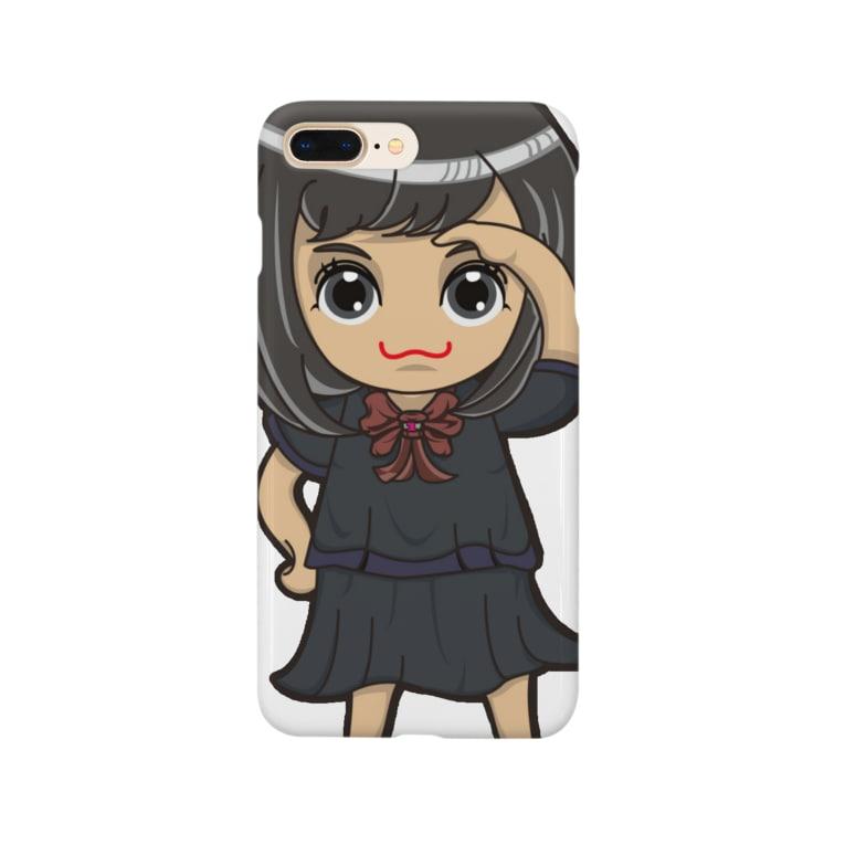 ʚ一ノ瀬 彩 公式 ストアɞのちびキャラ/SCHOOLTYPE:黒【一ノ瀬彩】 Smartphone cases