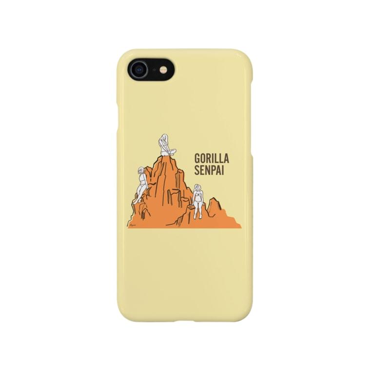 Roponのゴリラ先輩のウホウホマウンテン Smartphone cases