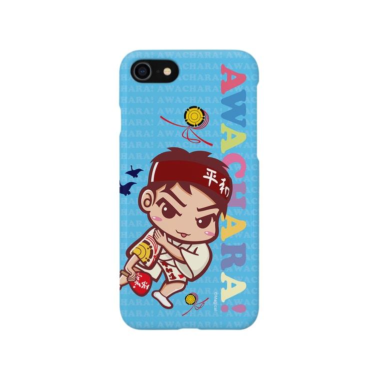 徳島 阿波キャラ!有名連の平和連③スマホケース(阿波キャラ)  Smartphone cases