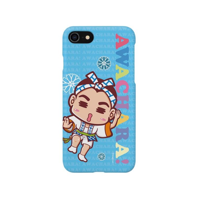 徳島 阿波キャラ!有名連のみやび連③スマホケース(阿波キャラ)  Smartphone cases