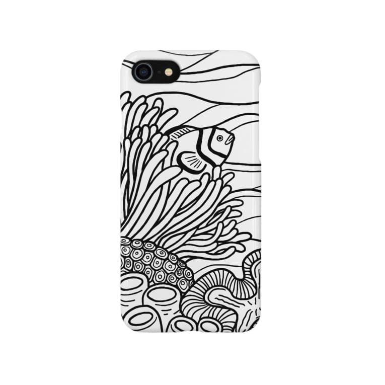 トモカワ ヒロサキ デザインショップの隠れるカクレクマノミ Smartphone cases
