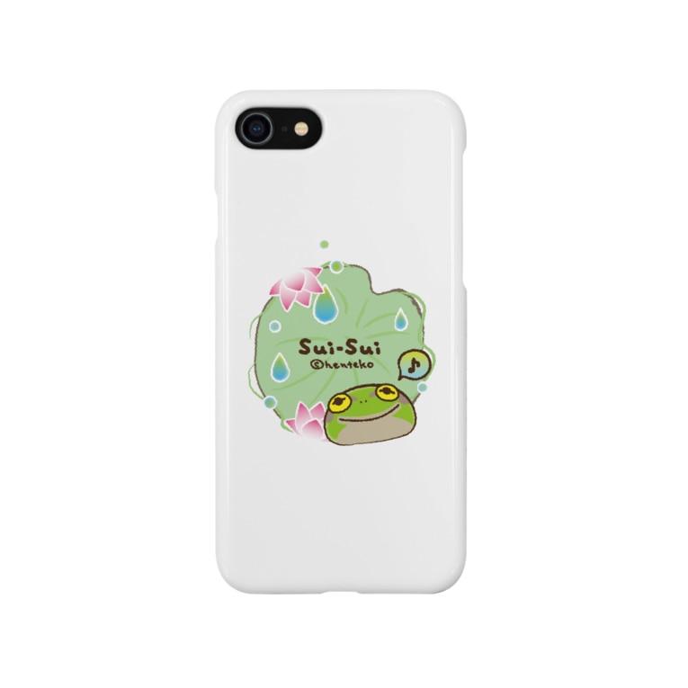 _---_のカエルのスイスイ 蓮 Smartphone cases