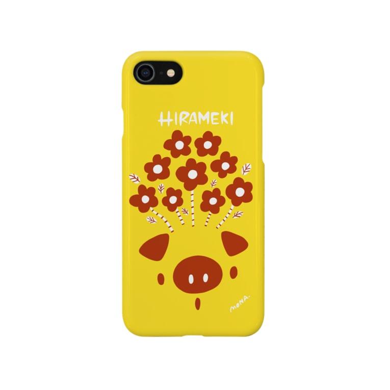 coloricoのHIRAMEKI ぶた Smartphone cases
