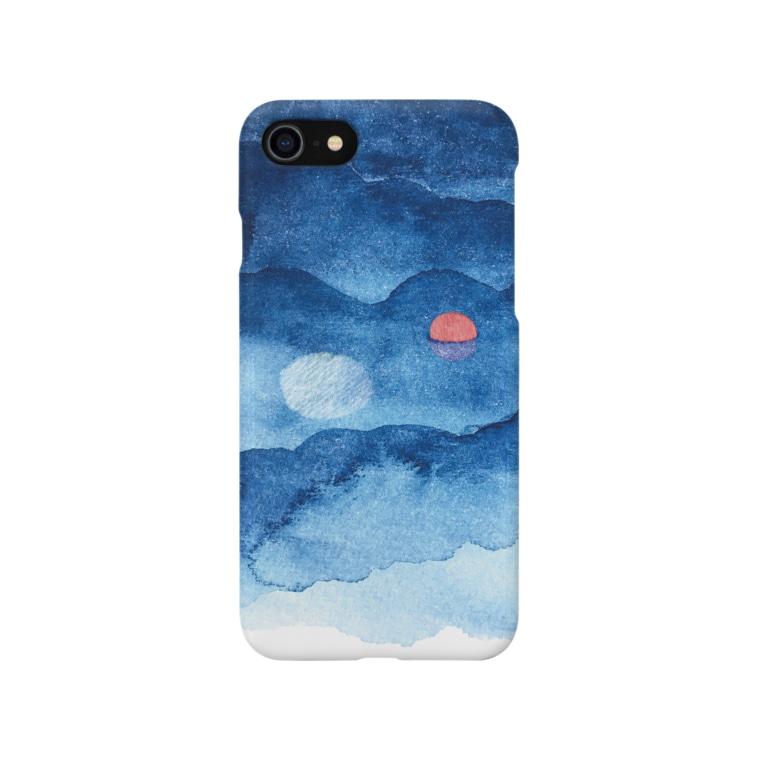 Sesujiの海の月とブイ Smartphone cases