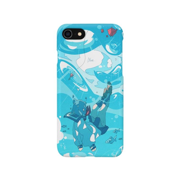 Haるの「青に沈む。」 Smartphone cases