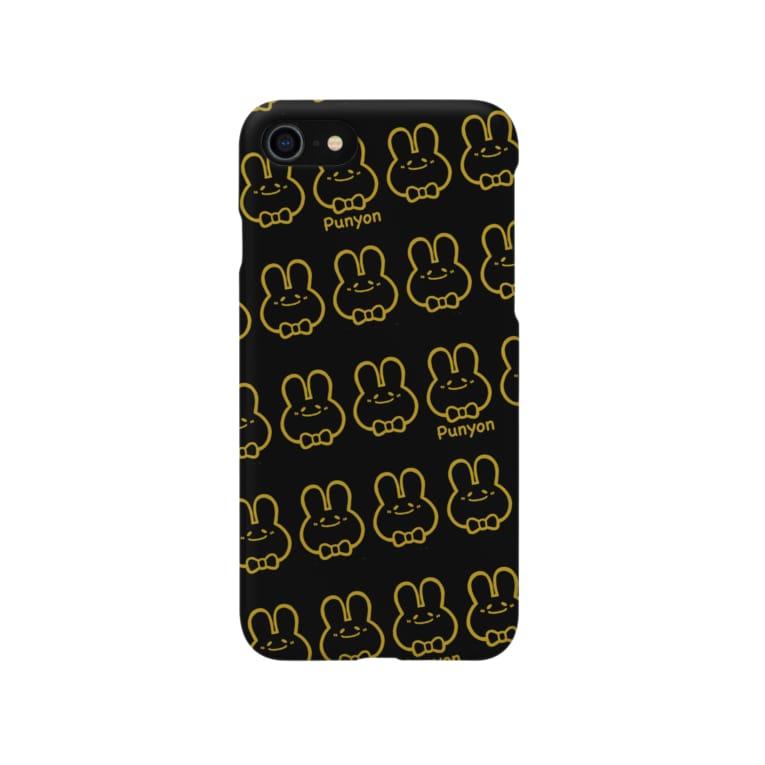 Cagelam(かげらむ)のブラック×ゴールドぷにょん。 Smartphone cases