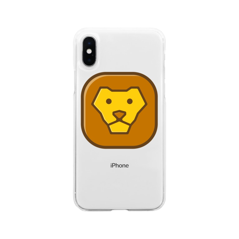 willnetのSavanna lion face Soft clear smartphone cases