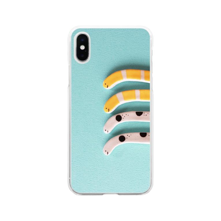 yumegiwa*のチンアナゴ(陶器) Soft clear smartphone cases