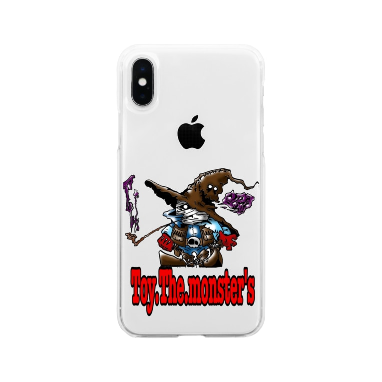 toy.the.monsters!のToy.The.monster's ガンマ&ハット Soft clear smartphone cases