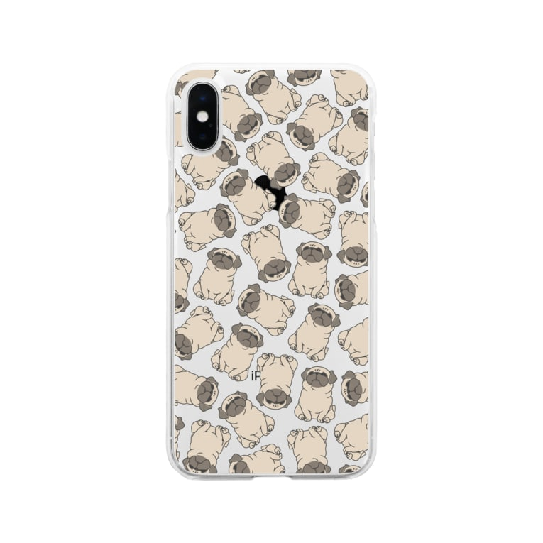 one-naacoのパグがみっちり。(フォーン) Soft clear smartphone cases