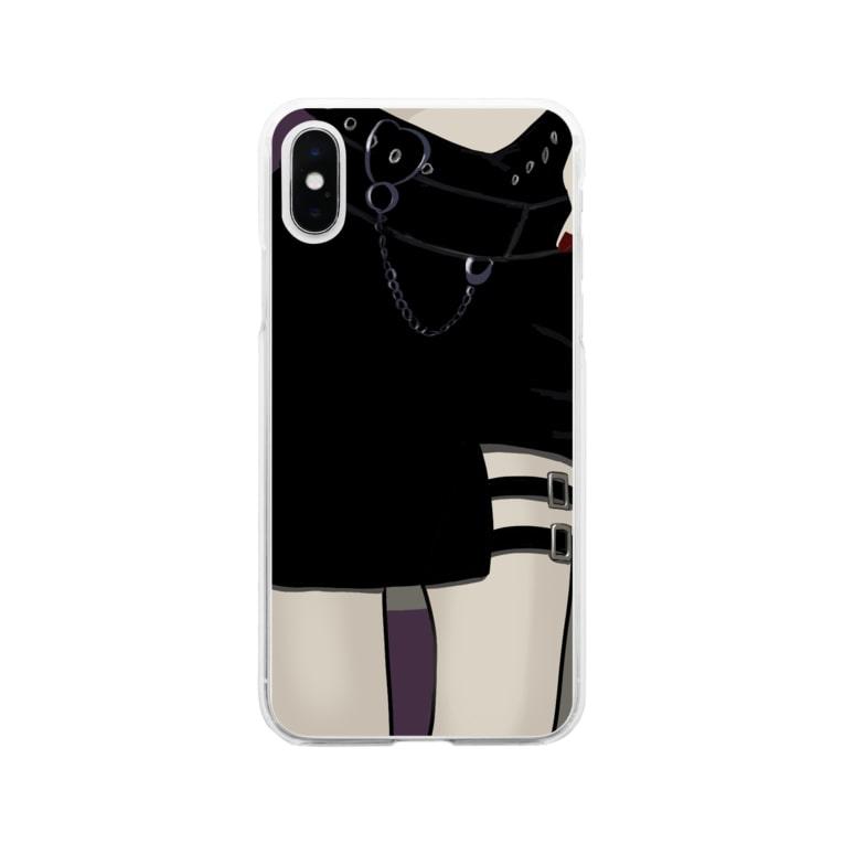 ハナイトのガーターベルト Soft clear smartphone cases