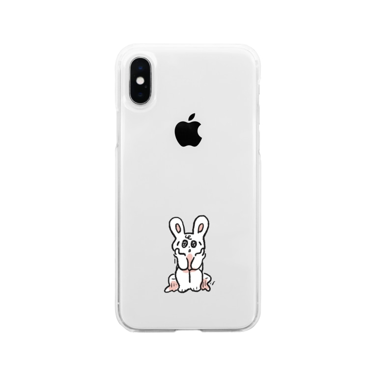 nebulianの世界を憂ううさぎのグッズ Soft clear smartphone cases