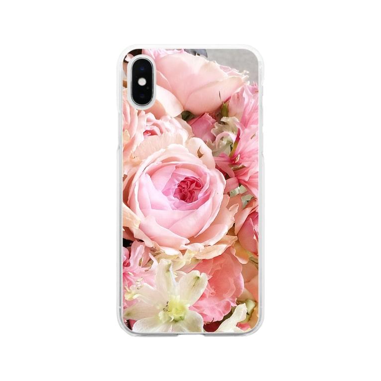 sakura f studioのピンクイヴピアッチェ   ソフトクリア Soft clear smartphone cases
