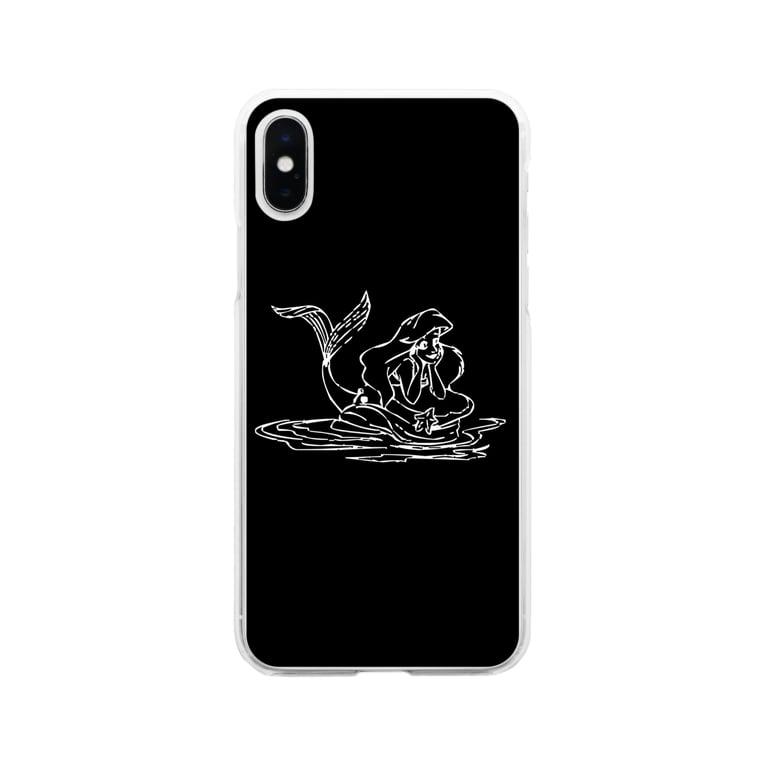 2gyda2のリトルマーメイド  Soft Clear Smartphone Case
