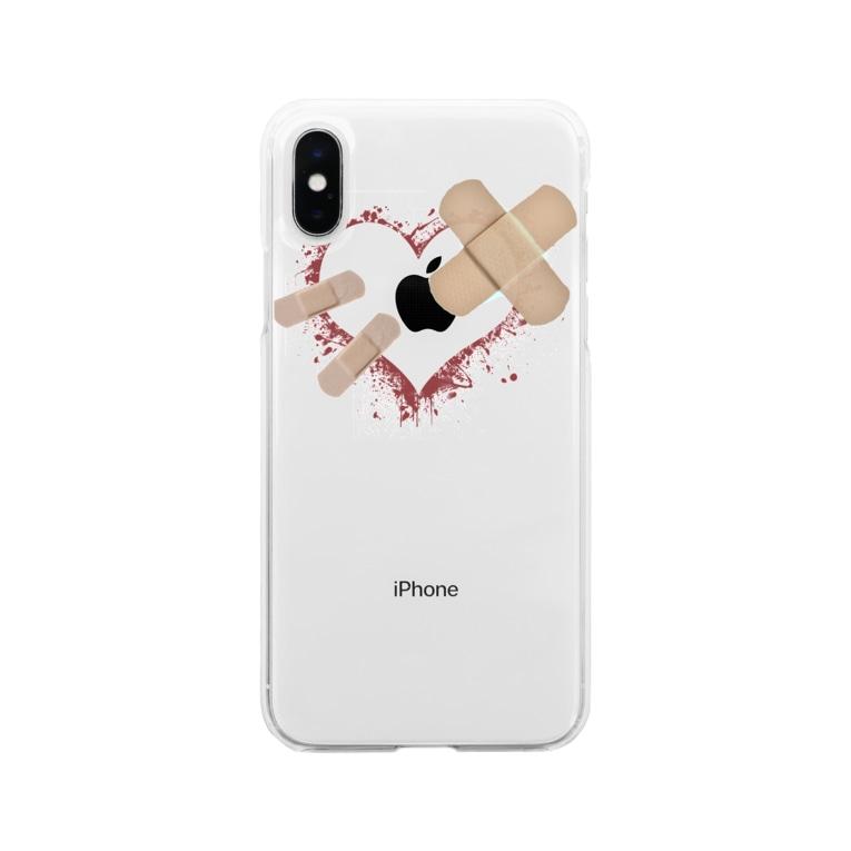 とっとんのハートエイド。 Soft clear smartphone cases