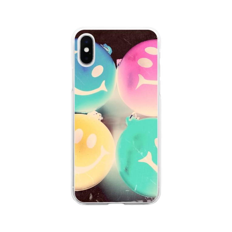 zakkaya 雑貨屋 孵 kaeruのにこにこスマイル。密です! Soft clear smartphone cases