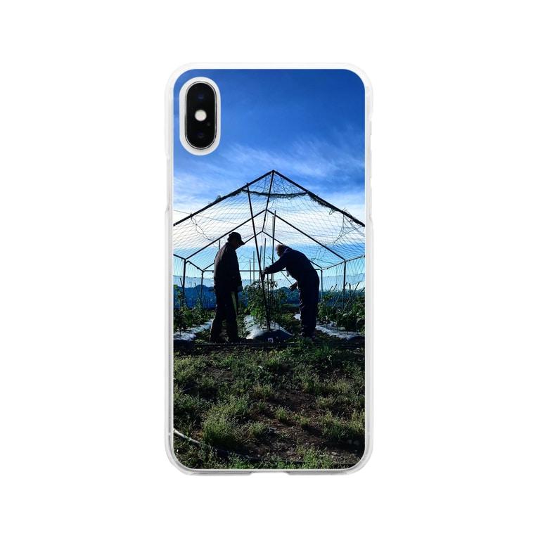 GOHANNDESUYOの畑とじーじたち Soft clear smartphone cases