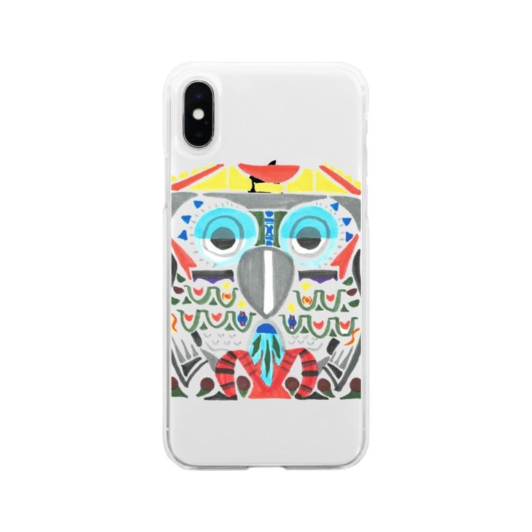 Mitsu-Zoの森の鳥 Soft clear smartphone cases