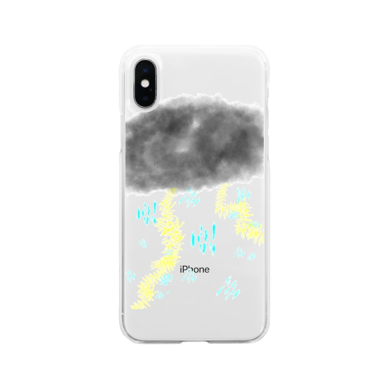 AIRの雷雨⚡️ Soft clear smartphone cases