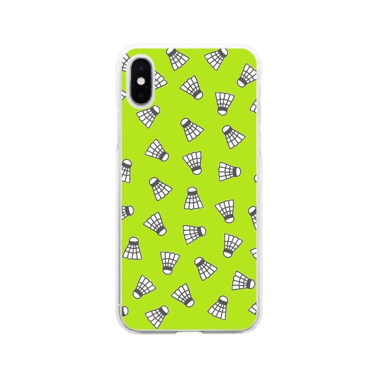 Sherryのシャトル柄kimidori Soft clear smartphone cases