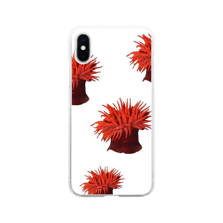shimaの隠岐 ウメボシイソギンチャク Soft clear smartphone cases