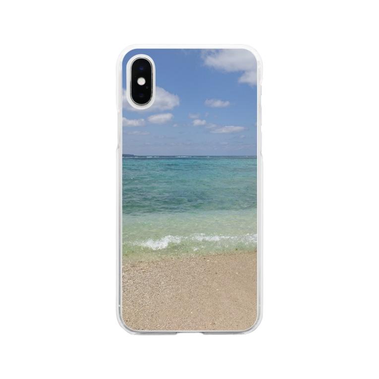 sky_oceanの美海 Soft clear smartphone cases