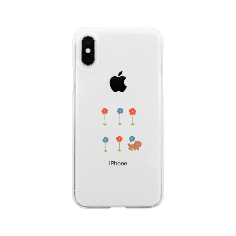 sanakoのチョコと花 Soft clear smartphone cases