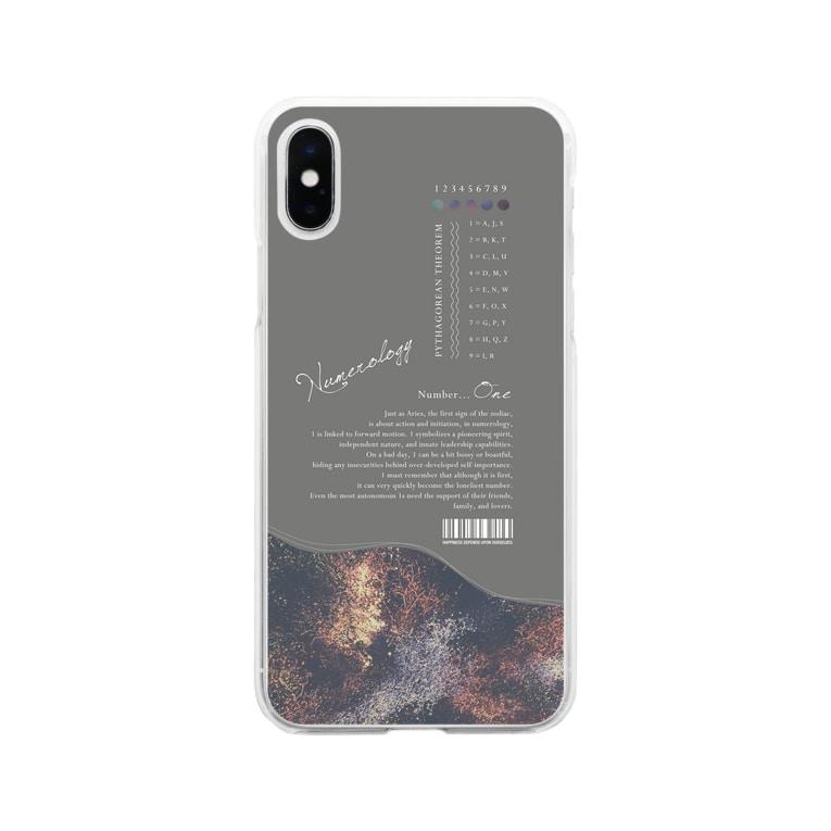 TANA_DESIGN_HONPOの「 1 」の魅力に埋もれるiPhoneケース Soft clear smartphone cases