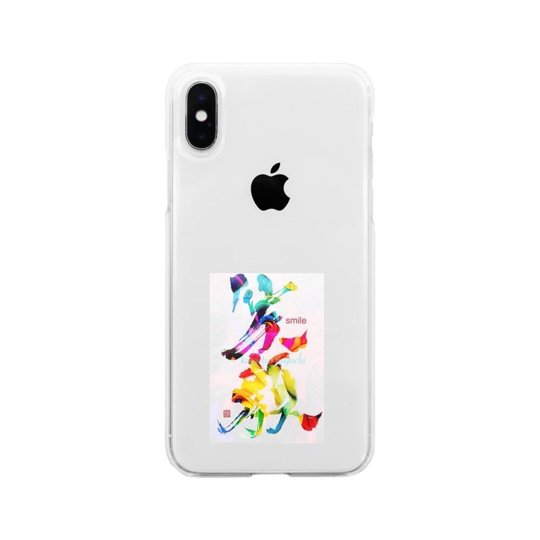 aya4548kaの笑顔で過ごそう Soft clear smartphone cases