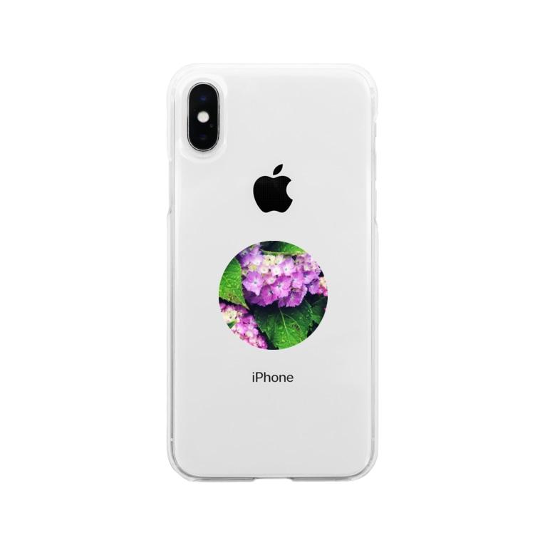 ✯しーくん。の露紫陽花 Soft clear smartphone cases