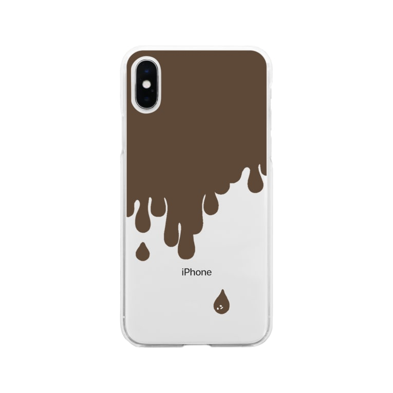 Ghostberryの溶けチョコ Soft clear smartphone cases