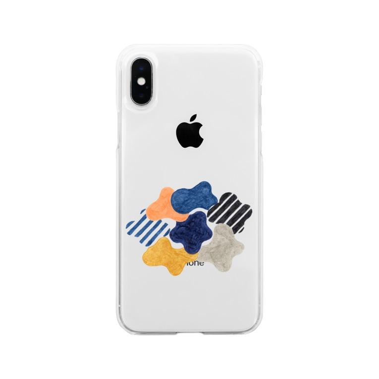 hk_illustrationのくもモクモク Soft clear smartphone cases