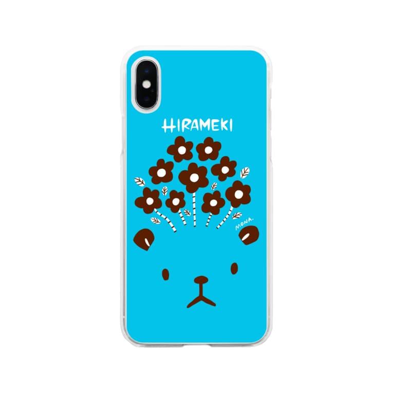 coloricoのHIRAMEKI くま Soft clear smartphone cases