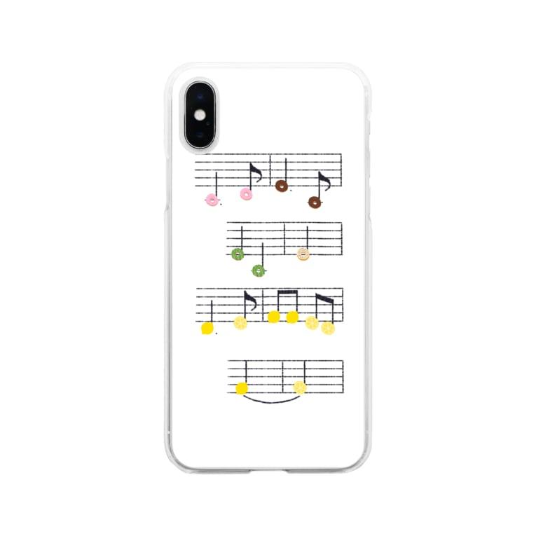 TinyMiry(タイニーミリー)のドーナツとレモンの楽譜 Soft clear smartphone cases