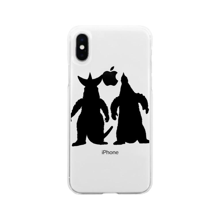 masaoz1000のなかよしかいじゅう Soft clear smartphone cases