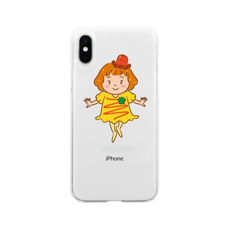 イラストレーター SMILES FACTORYのオムライスちゃん Soft Clear Smartphone Case