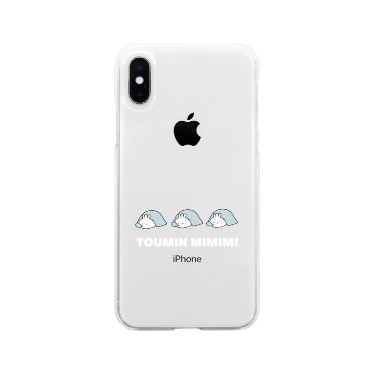 ungrochika ミミミしょっぷの冬眠ミミミ Soft clear smartphone cases