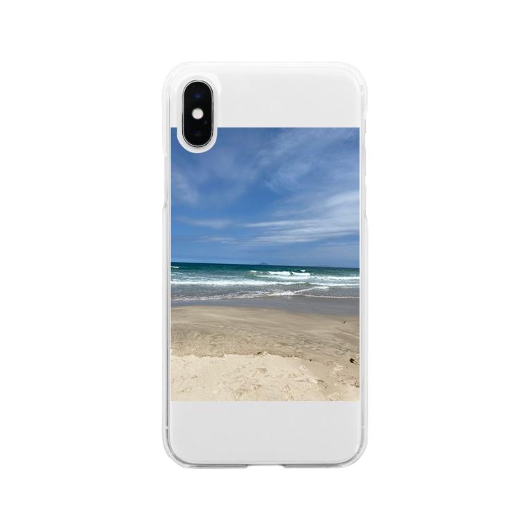 響葵(ひびき)の海好きさん Soft clear smartphone cases