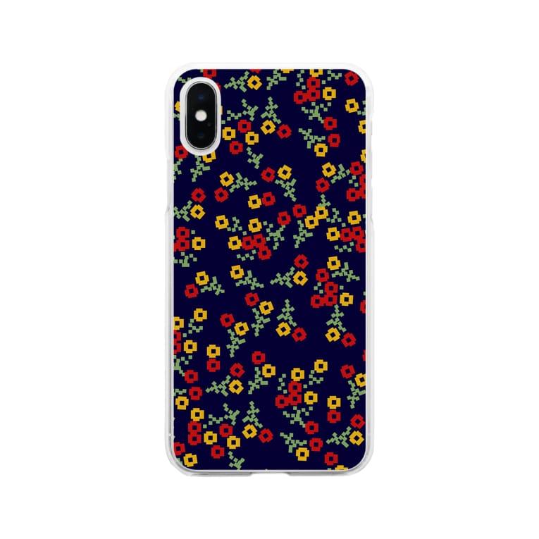 aki_ishibashiのモザイクタイルガーデン Soft clear smartphone cases