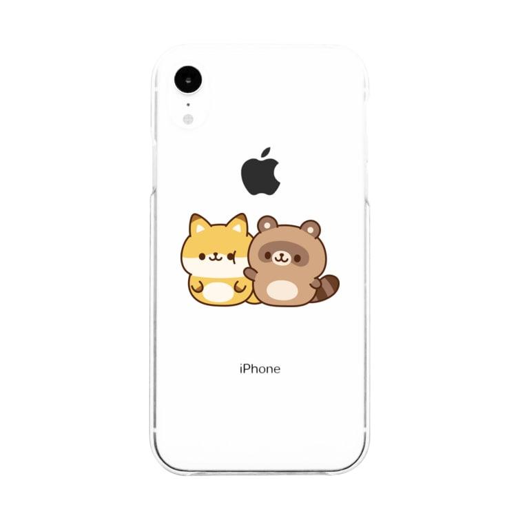 DECORのゆるたぬき ぽよぽよver. Soft clear smartphone cases