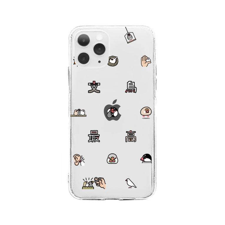 subacoの文鳥絵文字 Soft clear smartphone cases
