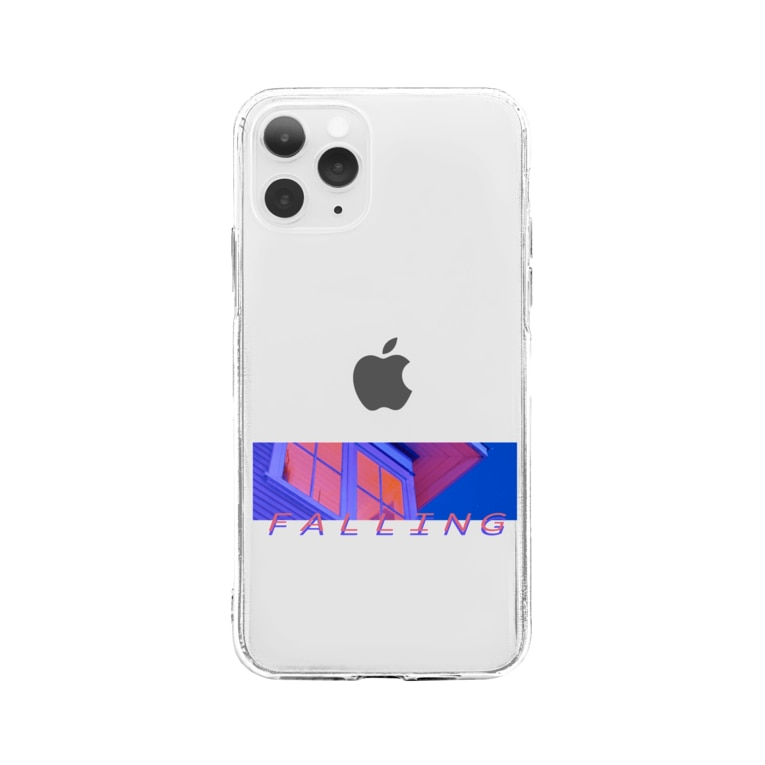 HYBS ストリートスタイルのフォーリング小豆 (iphone 11以降) Soft clear smartphone cases