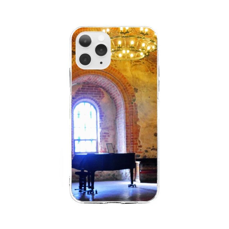 ひつじのアトリエ【公式】の孤独のピアノ【トラカイ城】 Soft clear smartphone cases