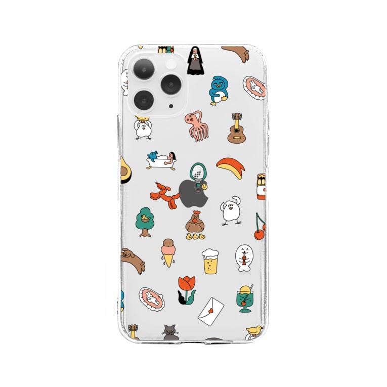 mugny shopのモチーフ Soft clear smartphone cases