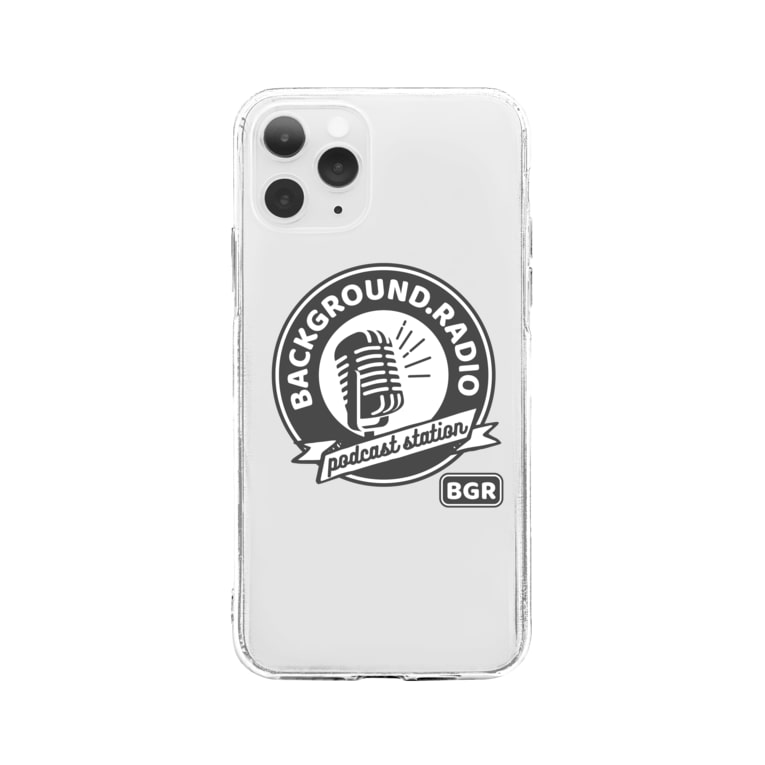 Background.radioのロゴ Soft clear smartphone cases