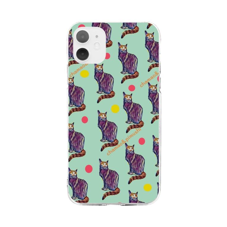 chamao&pimushiの【ねこ】ねこ好きさんへ No.2 Soft clear smartphone cases