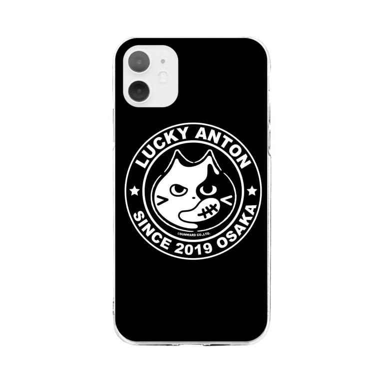 SUNWARD-1988のLucky Anton マーク[ブラック] Soft clear smartphone cases