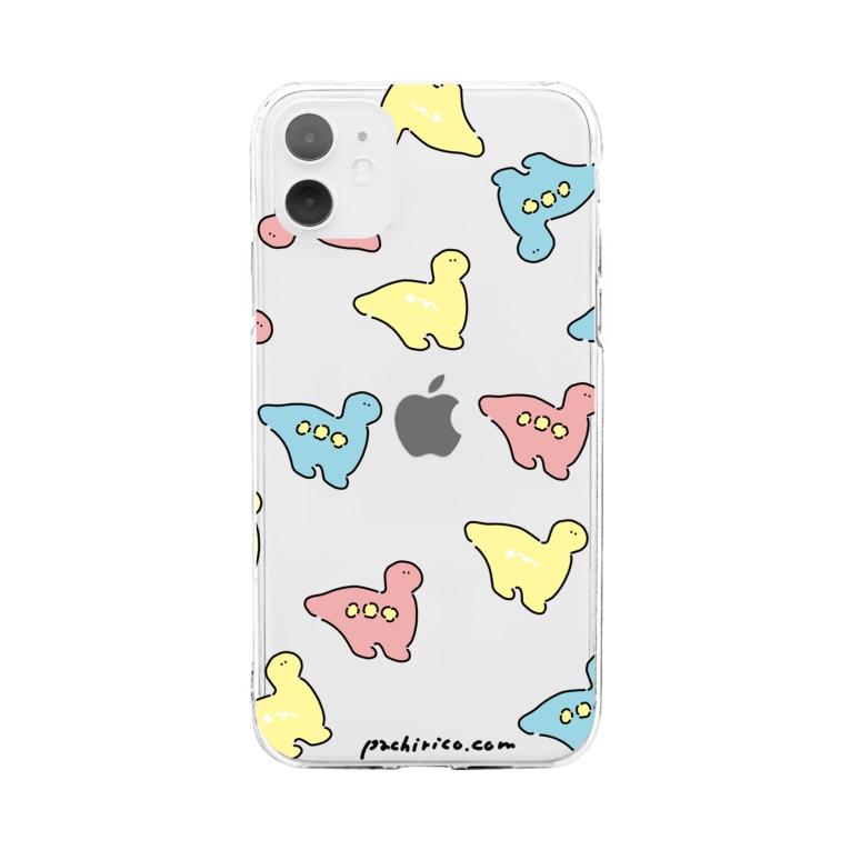 PACHIRICO!のカラフルなキョーリュー Soft clear smartphone cases